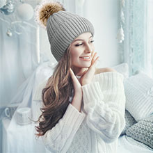winter hat pompoms for women beanie with pompom ears