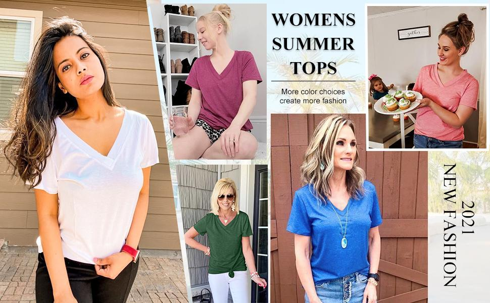 womens v neck t shirts