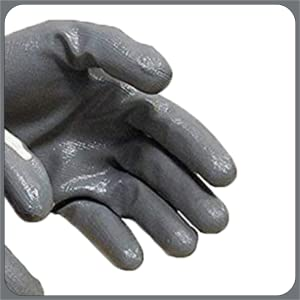 SAFEYURA Nylon Anti Cut Safety Hand Glove -5 Pairs Color- White Grey Size-Large SPN-FOR1
