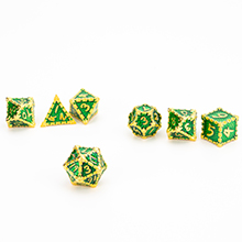 Metal solid dragon scale dice