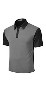 black grey golf shirts