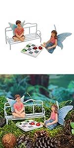 fairy garden kit house cottage home lamp mailbox seat fairy miniature complete indoor outdoor kids