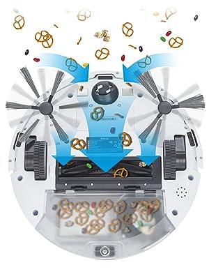 Robot Vacuum robot vacuum and mop combo  Robotic Vacuums aspiradora robot iHome AutoVac Eclipse