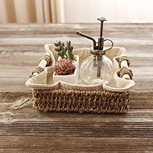 Yarlung 3 Pack Seagrass Baskets with Wooden Handles
