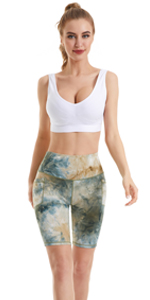 Yoga  shorts tie dye