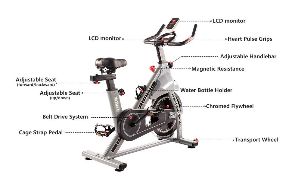 Whtor indoor workout bike features