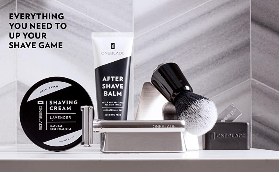 ONEBLADE SHAVING CREAM AFTER SHAVE BALM STAND