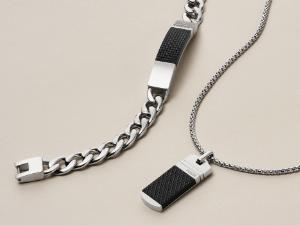 Men's Steel Plaque Necklace