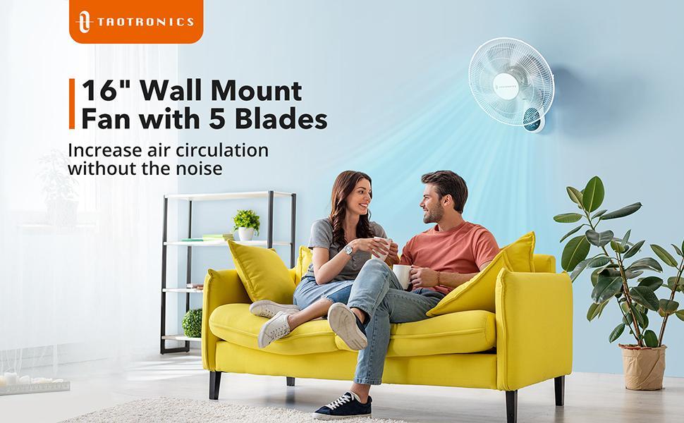 Digital oscillating Wall Mount Fans
