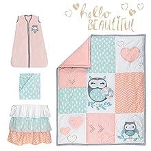 Sweet Owl Dreams Crib Bedding Set Pieces