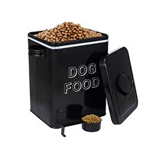 dog food storage white