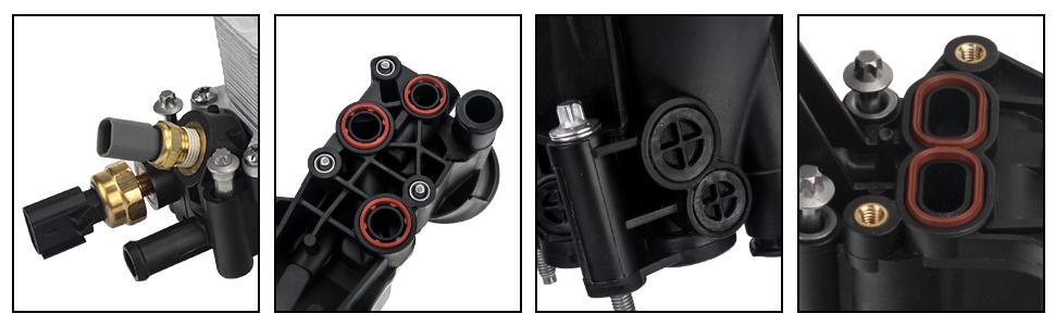 Engine Oil Cooler Filter Housing Adapter Assembly for 2017 2018 Chrysler Jeep Dodge RAM 68310865AB