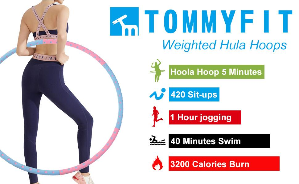 weighted hula hoop for adults fitness exercise