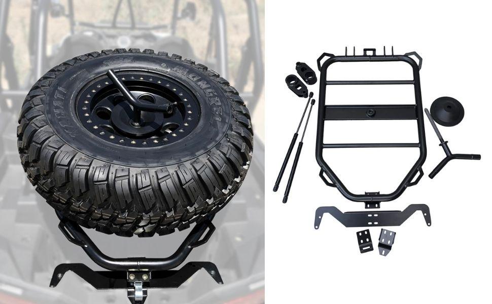1100-BK Spare Tire Rack