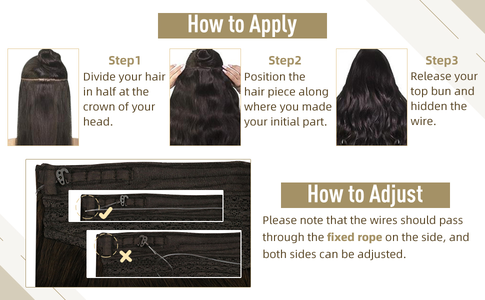 how to apply wire in hair extensions