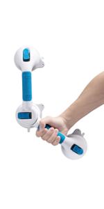 Suction Shower Grab Bar Angle Adjustable Balance Handle Bathroom Strong Holder Safety Grip
