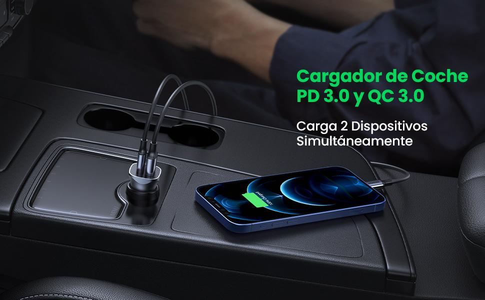 Cargador de coche QC 3.0 y PD 3.0