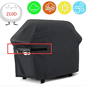 e with reflective strips grill cover protective cover for Brinkmann, Char Broil, Weber and Jenn Air