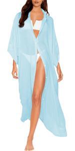 B08R9F2LY4 Cover Up Shirt Dress