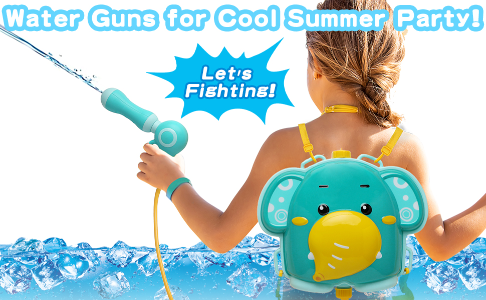 Water Guns for Cool Summer Party! Let's Fighting!