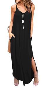 Womens Summer Cami Long Dress