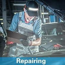inspector repairmen auto mechanic bright working headlamp flashlight bright led light rechargeable