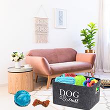 dog toy box personalised