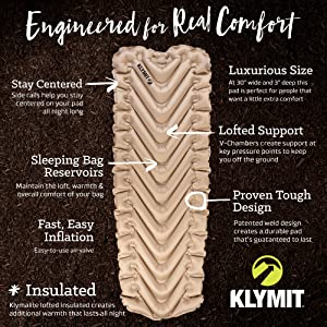 klymit insulated static v luxe sl
