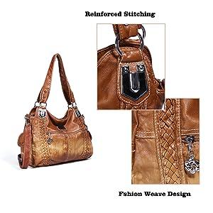 Angel Barcelo Roomy Fashion Hobo Womens Handbags Ladies Purse Satchel Shoulder Bags