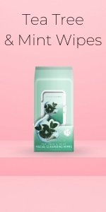 Tea Tree and Mint Wipes by Beauty Concepts