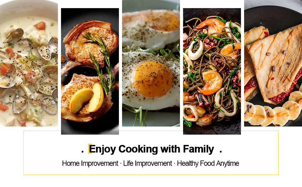 A variety of cooking methods