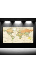 giant world maps for wall framed old world map framed wall art for office World Map