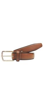 AZ by Alexander Zar Genuine Leather Belts For Men - Ombre Cognac Brown Dress Belt Men