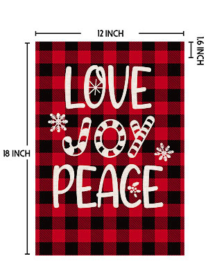 christmas flags 12x18 double sided