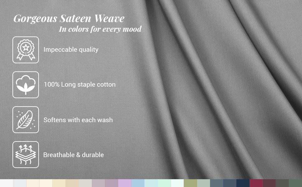 Pizuna Linens Sateen Weave