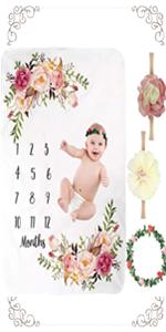 4 PCS Baby Monthly Milestone Blanket