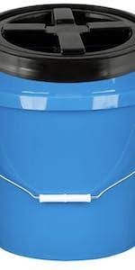 Blue Bucket with Black Gamma Lid