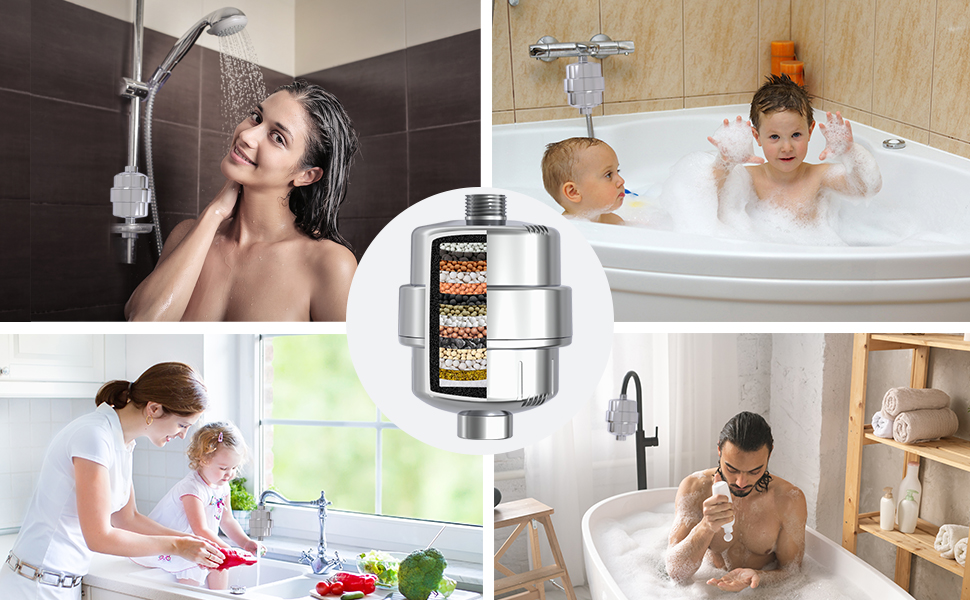 water filter for shower for babies and adults.15 stage filtration.