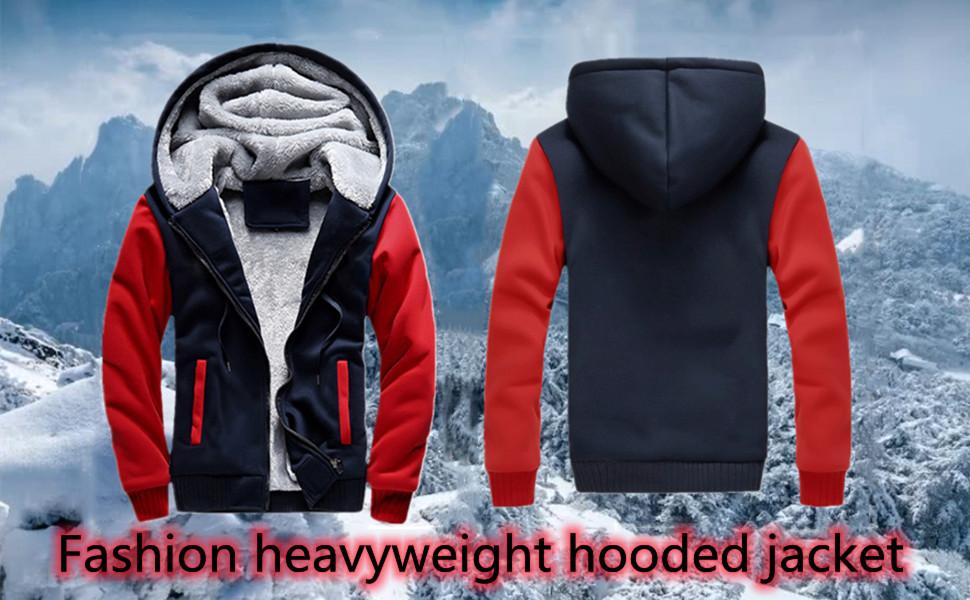 mens heavyweight hooded jackets