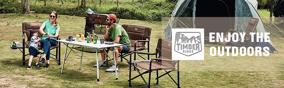 TIMBER RIDGE Folding Camping Chair