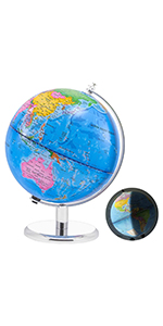 3 in 1 Interactive Earth Globes with Stand