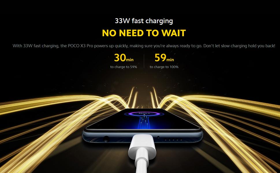 33W fast charging