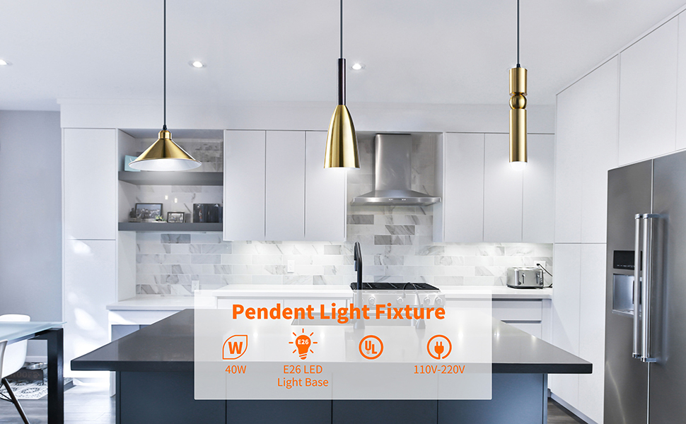 Golden Retro Industrial Style Pendant Lights