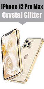 Glitter Clear Case for iPhone 12 Pro Max