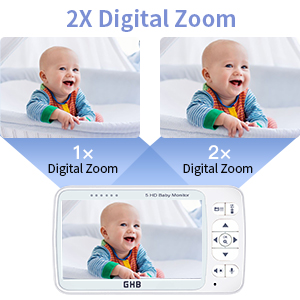 baby monitor 5inches screen