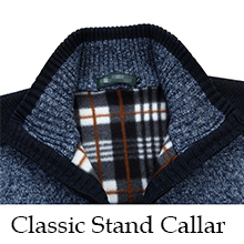 Mens Casual Full Zip Knitted Cardigan Sweaters