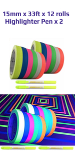 uv black light reactive tape