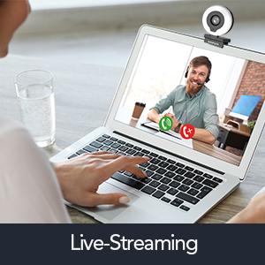 webcam 1080P webcam mit licht webcam autofokus 2K usb Fhd webcam mit mikrofon