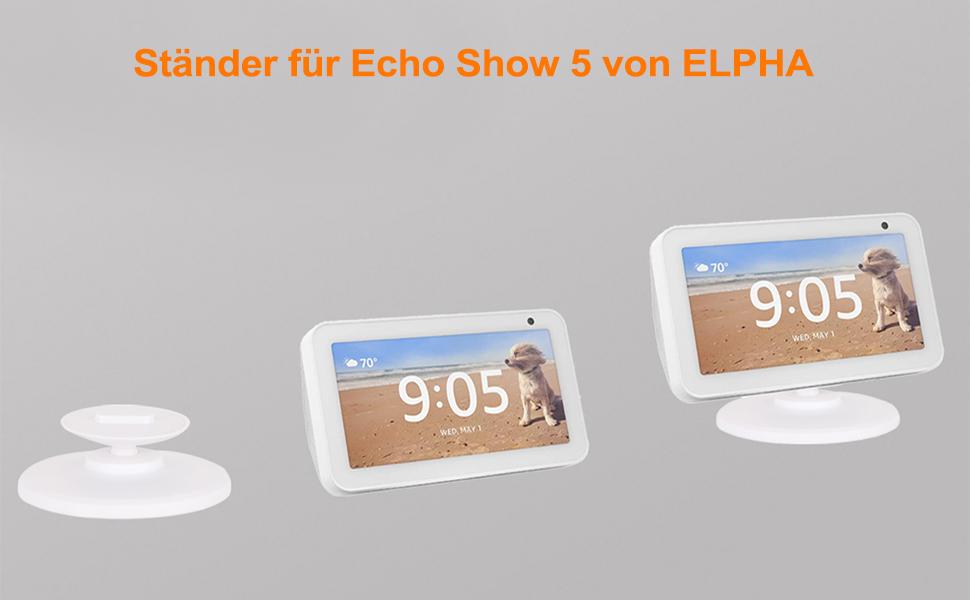 Ständer für Echo Show 5 ELPHA Weiß