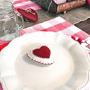 Red and White Buffalo Check Placemats -100% Cotton Placemats - Red Placemats